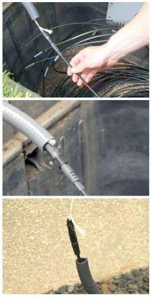 Прокладка дроп-кабель DLX в ЗПТ