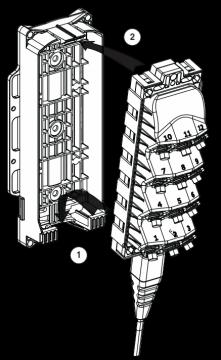 Установка Mini MST в монтажное крепление